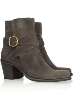 Fiorentini & Baker|Nubis distressed-nubuck boots|NET-A-PORTER.COM