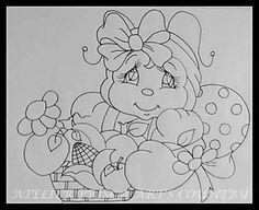 Joaninha com cesta  tp