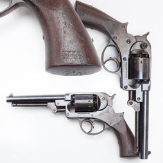 Starr Double-action Percussion Revolver- The Starr was a potent .44 caliber six-gun & if one had the finger strength, & liked the balance of its shorter six-inch barrel, it might provide an advantage over more traditional Colt & Remington percussion revolver models. But only 23,000 Starrs were to be purchased during the American Civil War, well behind Colt and Remington.  Even the next-up competitor Whitney, did proportionally better with gov. sales in the early years of the conflict than…