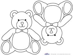 Take a look at lots of free baby shower ideas for a Teddy Bear theme. You'll find original teddy bear shower games, decoration ideas, free printables, food ideas, teddy bear cakes and lots more. Teddy Bear Images, Teddy Bear Pictures, Teddy Bear Template, Bear Stencil, Teddy Bear Drawing, Teddy Bear Crafts, Teddy Bear Birthday, Teddy Bear Baby Shower, Bear Card