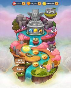 라인버블2 보물섬 엄청 재미있네요!!!! #디자인은곤드레 #game #gameUI #linegame #linebubble2 #라인버블2 #design #UI #treasureisland #곤드레 Treasure Island Game, Treasure Games, Game Gui, Game Icon, 2d Game Art, 2d Art, Game Card Design, Map Games, Game Props
