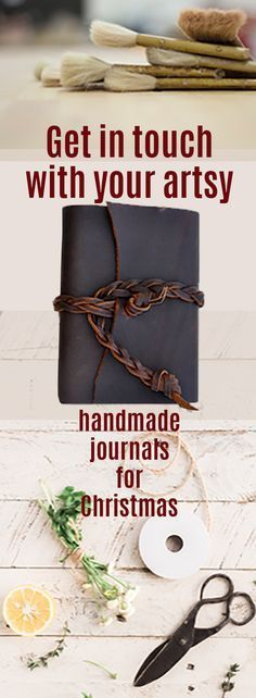 I love to write, draw, doodle, paint, sketch, and so I love journals. All kinds of journals. Need journals. Especially creative, unique handmade journals that speak creativitiy just looking at them. Perfect Christmas gift for all the creative people in my life. #journal #handmade #creative #leather #Christmas #gift #affiliate