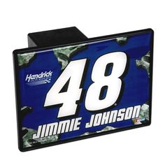Purchase this Jimmie Johnson #48 Trailer Hitch Cover in our Team Store.