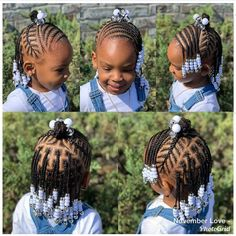 Image may contain: 1 person Source. Little Girls Natural Hairstyles, Toddler Braided Hairstyles, Toddler Braids, Lil Girl Hairstyles, Black Kids Hairstyles, Braids For Kids, My Hairstyle, Girls Braids, Kid Braids