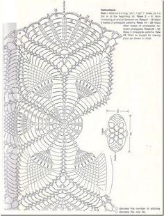 Салфетка крючком, мини-скатерть, схема