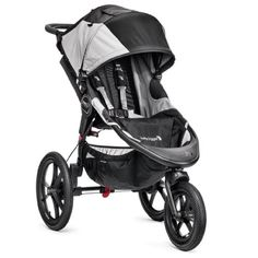 Baby Jogger Summit X3 Single Stroller, Black/Gray Baby Jogger paired with purchasing a infant car seat addaptor...then choose the car seat you like to go with.   In my opinion this is the best option for stroller, because when they grow into a convertible car seat this stroller will still work wonderfully! It is by far the smoothest ride...  It should be noted that you can not actually job with a infant until they are 1 year old...due to head/spinal strength.
