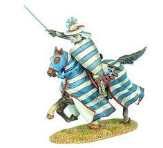 CRU051 Mounted Crusader Lusignan Knight Charging