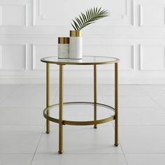 Aimee End Table Gold - Crosley : Target Gold End Table, Mirrored End Table, Metal End Tables, Glass Side Tables, Round Side Table, End Tables With Storage, Glass Table, Rattan Side Table, Tempered Glass Shelves