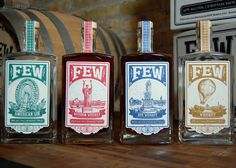 FEW Spirits is a craft distillery, located in Evanston, Illinois just north of Chicago. They offer premium small-batch spirits made entirely on-premises from grain to bottle. In order to bring their product to market, FEW relied on Wilburn Thomas' expertise and vision to develop a brand & design a label set that was worthy of their handcrafted liquors.