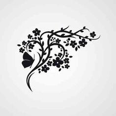 Chinese Bloemen - Muurstickers en Verfsjablonen voor Uw kamer!