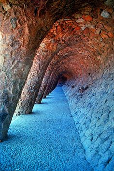 Gaudi Tunnel and Columns, Parc Guell, Barcelona | Flickr - Photo Sharing!