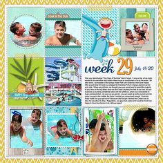 such fun Project Life page from Nancy Beck at DesignerDigitals.com