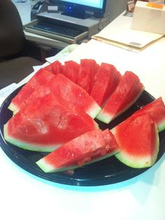 Fresh Cut Watermelons Slices for our wonderful Patients this morning!!!!!!