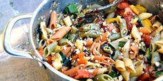 This vibrant roasted vegetable pasta recipe is a great celebration of Mediterranean colour, thanks to the use of mezze penne tricolour pasta.