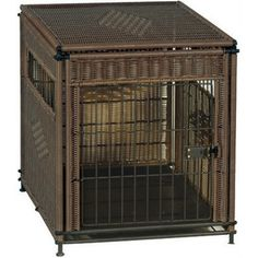 Do you not like the look of unsightly metal dog crates?  This looks great, and blends right in with decor