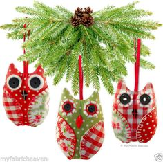 OWL-Handmade-Fabric-Christmas-Tree-Decoration-Wedding-Favours-Sewing-PATTERN