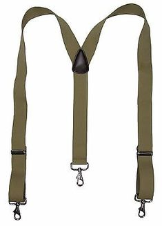 New MTL Men/'s Elastic Suspender with Metal Swivel Hook Clip End Red USA Made