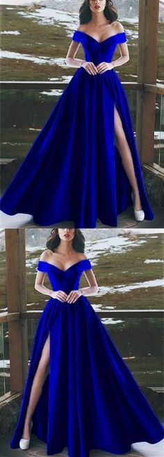 Burgundy Satin V-neck Long Prom Dresses Leg Split Evening Gowns,Elegant V-neck Off The Shoulder Long Satin Royal Blue Prom Dresses royal blue hoco dress / royal blue party dress / blue gown royal / white and royal blue wedding / blue dress royal Royal Blue Prom Dresses, Cheap Prom Dresses, Royal Blue Gown, Cobalt Blue Dress, Royal Blue Outfits, Long Prom Dresses, Prom Dresses Ball Gown Blue, Prom Dreses, Princess Prom Dresses