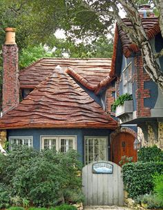 waved roof...story book houses
