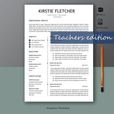 12 professional ms word resume template for best price, resume template, resume template with matching cover letter, teacher resume template Creative Cv Template, Template Cv, Teacher Resume Template, Modern Resume Template, Creative Resume, Resume Templates, Teacher Resumes, Resume Words, Resume Writing