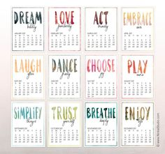Time to Thrive Free 2017 Calendar.