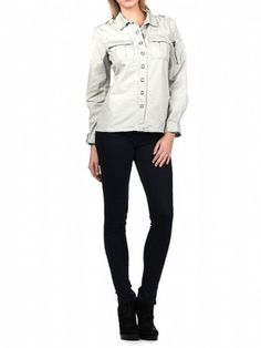 Blank NYC Womens Snap Front Cargo Shirt $59.00