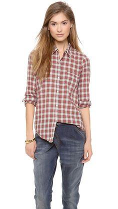 Nili lotan NL Button Down Shirt. Like the jeans too.
