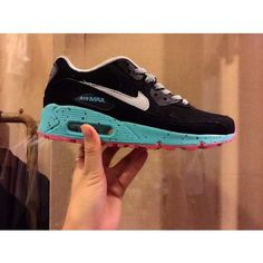 half off 03983 e6c0d Nike Air Max 90 Blue Pink Speckled Shoes Cheap Sneakers, Shoes Sneakers, Nike  Air