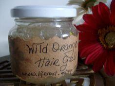 Invigorating Organic Hair Gel - Vegan - 2 Ounces - Freshly homemade once you order on Etsy, $10.00