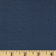 Morocco Blues Stretch Poplin Dots Navy from @fabricdotcom  This very lightweight cotton poplin fabric has an ultra smooth hand and 10% stretch across the grain. It is perfect for shirts, dresses, skirts, blouses and more. Colors include white and navy.