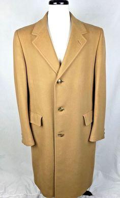 Cashmere Jacket Beige Long Sleeve Top Coat L #MalcomKenneth #Overcoat