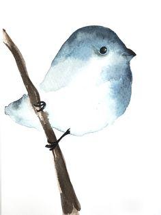 watercolor birdy