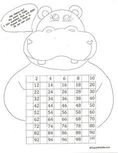 Classroom Freebies: Hip-Hippo Ray 100 Day Activities