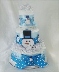Christmas diaper cake
