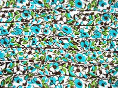 VF132-52C Flossie Floral - Turquoise Two-way Stretch Jersey Knit Floral Print Fabric