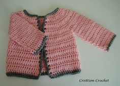 baby girl cardigan - works up in about 2 1/2 hours