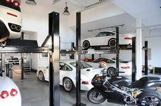 2008 Garage Re-Vamp (it was time) – Page 16 – – Porsche Forum and L… – En Güncel Araba Resimleri Rv Garage, Garage Interior, Man Cave Garage, Garage House, Dream Garage, Garage Ideas, Car Stacker, Garage Design, House Design