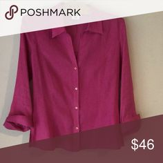 Pink linen blouse Beautiful blouse🌺worn once Gerard Darel Tops Blouses
