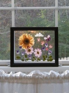 Pressed Flowers in Glass by thepetalpusher on Etsy