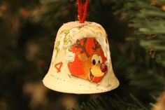 """Gingle Bells"" Handmade Ornament   #xmas #decoupage #Decor #diy"