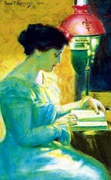 "Frank Townsend Hutchens, ""Woman Reading"" 1900"