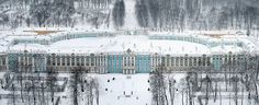 A beautiful photograph of the Catherina Palace at Tsarskoye Selo