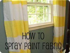 Spray paint Target curtains