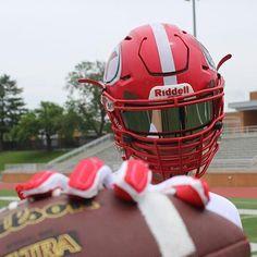 SHOC smoke chrome football fits Riddell Speed Flex helmet get your visor from www.shocvisor.com
