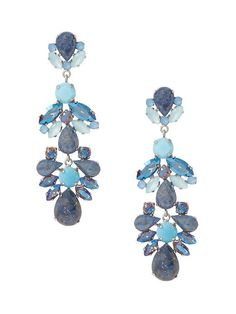 Our bold blue drop earrings complete every winter outfit   Banana Republic