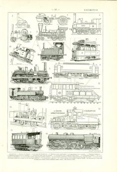 1922 Vintage train engine poster Antique train print train poster Vintage train gift Locomotive print Train decor Train decoration train art
