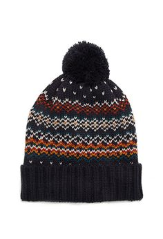 Fair Isle Striped Beanie
