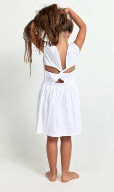 Classic girl's white dress by Alex & Ant.  Perfect for New Years