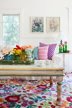 'Vibrant Santa Monica cottage.' Alison Kandler Interior Design, Santa Monica, CA. Bret Gum photo for Romantic Homes. Hello Anon -Danni. To see more of this project and get decor details, take a look at the designer's website: alisonkandler.com...