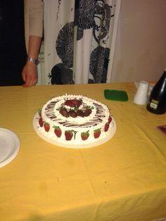 Strawberry choccolate cake